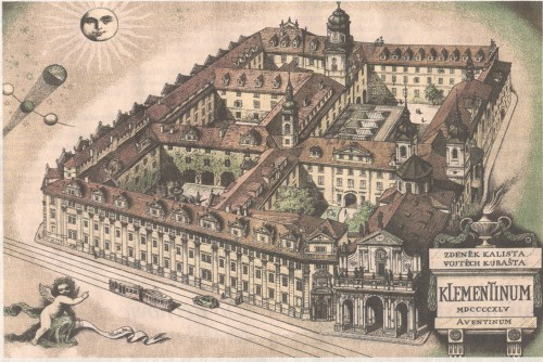 The Clementinum (Klementinum in Czech) is a historic complex of buildings in Prague. Until recently the complex hosted the National, University and Technical libraries, the City Library also being located nearby on Mariánské Náměstí. The Technical library and the Municipal library have moved to the Prague National Technical Library at Technická 6 since 2009. It is currently in use as the National Library of the Czech Republic. The Weather station Clementinum, founded by the jesuits, is the oldest weather observation considered unique in the whole Central Europe. The National Library was founded in 1781 and from 1782 the Clementinum was a legal deposit library. In 1918 the newly-established Czecho-Slovak state took over the library. Since 1990, it has been the National Library. It contains a collection of Mozartiana, material pertaining to Tycho Brahe and Comenius, as well as historic examples of Czech literature.