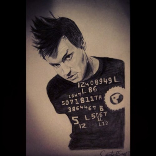 Mark Hoppus drawing.