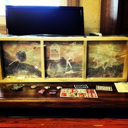 "@Kishi_bashi 7"" (literal) boxset, courtesy of @JoyfulNoiseRecs #triptych #vinyl #joyfulnoise #norfolk #virginia"