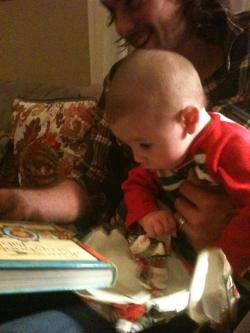 "Watching my grandson open his first Christmas present pretty much made my Christmas this year. For Kelton, tearing through the paper and taking the time to squish it in his little hands was as much fun as anything that was inside the paper. I think there's a truth in there worth holding onto. I feel like I often live my life tearing through things to get to ""the good stuff."" But what if joy was sought and found in the things—and in the people—we walk past everyday and all too often simply miss or even discard? What if happiness is found in the simple things that our everyday lives are wrapped up in? I want to be more like Kelton this Christmas and throughout the New Year and find joy in the paper."