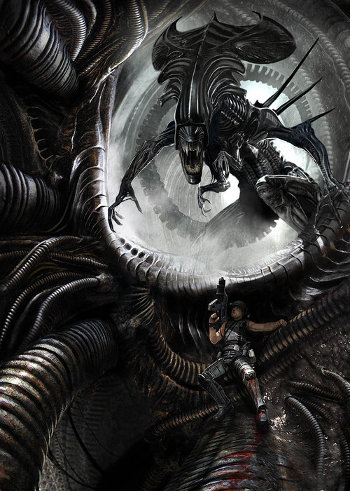 "gamefreaksnz:  Aliens: Colonial Marines extended 'Contact' trailer  Gearbox Software and SEGA have released the extended version of the spectacular ""Contact"" trailer.  This piece is titled ""Desperate Housewife"". It was created by ~ornicar back in 2010. It has nothing to do with the game."