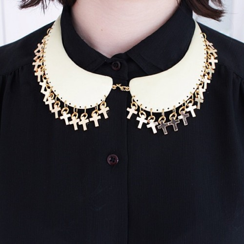 Statement piece JUST IN #collar #jewellery #patricianicolas Online - http://www.patricianicolas.com/collar-cross-necklace-p-627.html