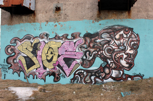 Tekar and Slow on Flickr. A Collaboration I did with Sloe this past weekend.   I just got Instagram! If your on it check out @frozenoceangraffiti
