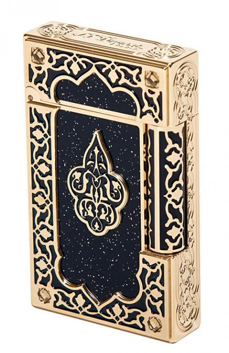 alifewellsuited:  S.T. Dupont 1001 Nights gold lighter