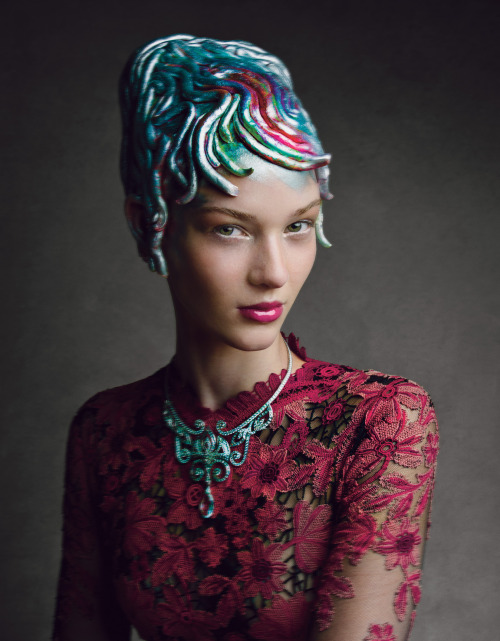 wmagazine:  Photograph by Patrick Demarchelier It's Spring, baby. Time for a new 'do!