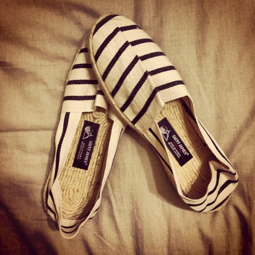 Excited about my #saintjames #espadrilles for #summer :)