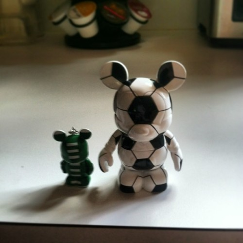 Two of the Vinylmation characters from the swag bag from ESPN.