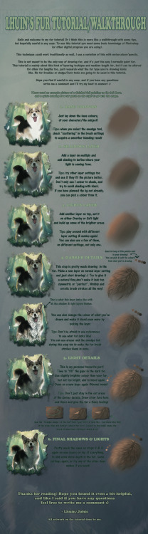 art-and-sterf:  Fur tutorial/walkthrough (mainly longer fur) by =Lhuin