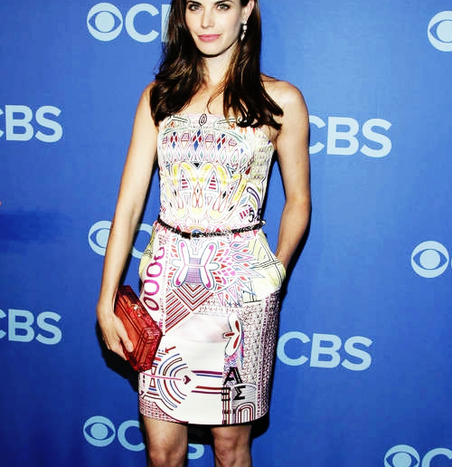 "Meghan Ory attending the CBS Upfronts Presentation for her new series ""Intelligence""."