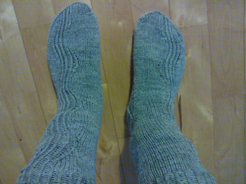 Kalajoki-socks, a christmas present for my friend. Pattern in Ravelry.
