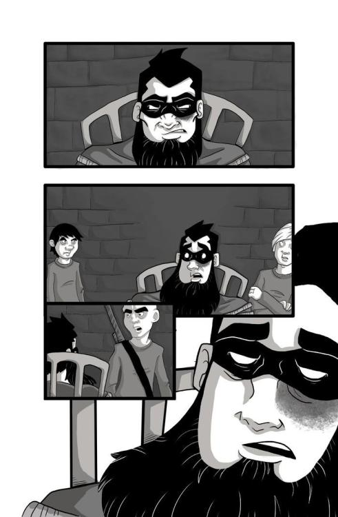 Sample page of Facebeast #2 (sans lettering). Our Kickstarter has only been live for 3 days and we're already funded! WOW! There's still over a month to get in on the action though. Visit our Kickstarter for more info! http://www.kickstarter.com/projects/naughtybicycle/facebeast-a-tale-of-a-bearded-super-hero