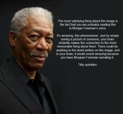 darthtrafford:  The Power Of Morgan Freeman!