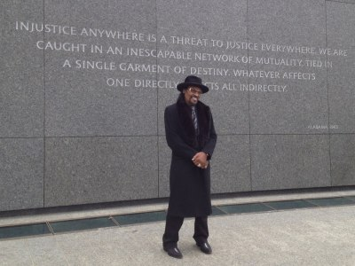 Chuck Brown at the MLK Memorial. Feb. 19, 2012.