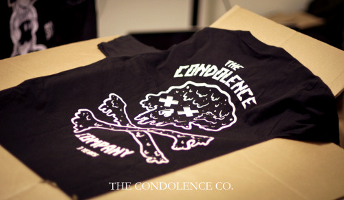 "thecondolenceco:  Our ""Trippy Drippy"" tee is dropping just in time for this hot melty Summer. We will be releasing our new tee at midnight. This just happens to be TCC's 3rd Birthday! www.TheCondolenceCo.com"