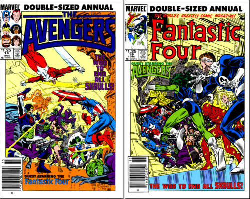 Kerry Gammill Avengers & The Fantastic Four cover art