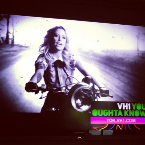 Woke up to a nice surprise this am. @Gin_Wigmore record I did is @VH1 You Ought-a Know Artist this month! Go gal!