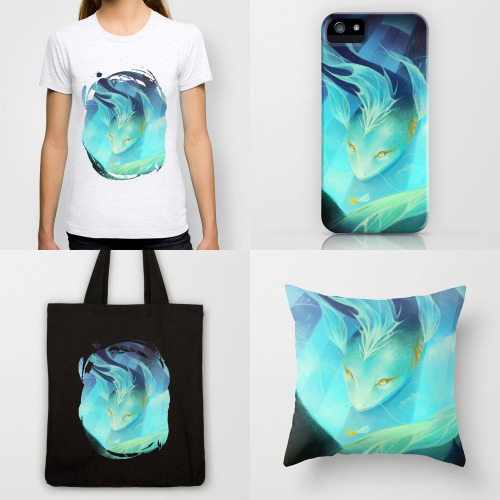 FREE Worldwide Shipping today at Society 6!  I added a new series of products featuring my Floating piece, so be sure to check it out~ :)