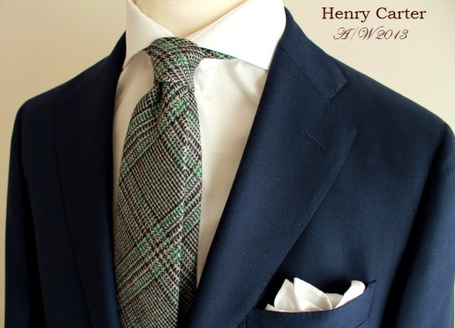 Ingredients -  1 x Henry Carter grey tweed wool tie 1 x Henry Carter white shirt 1 x Henry Carter Irish linen pocket square 1 x Of your favourite Navy blazer Add -  A pair of grey flannels and black oxfords and serve when cold.