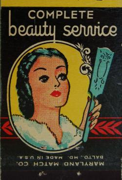 klappersacks:  vintage matchbook: Harrison's Beauty Salon, Baltimore by coltera on Flickr.
