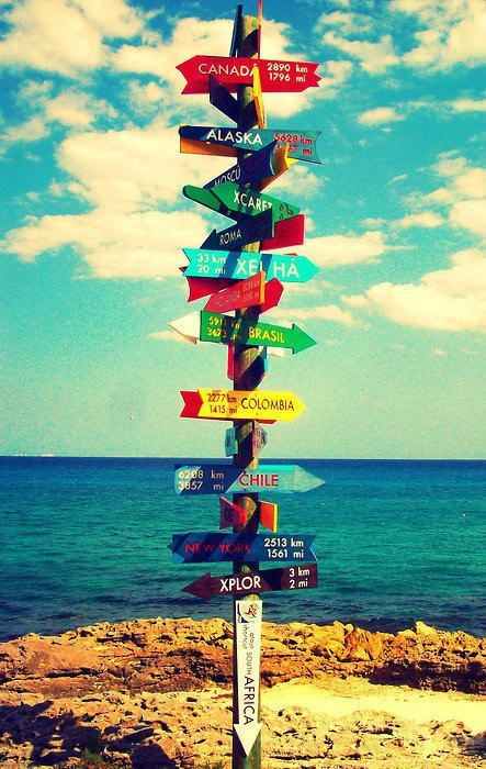 Which way to go!?!  Loving the options (and Tulum)  ;)xx