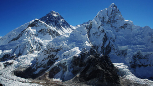 mothernaturenetwork:  Mount Everest is melting Researchers suspect that the glacial melting in the Everest region is due to global warming, but they have not yet established a firm connection.