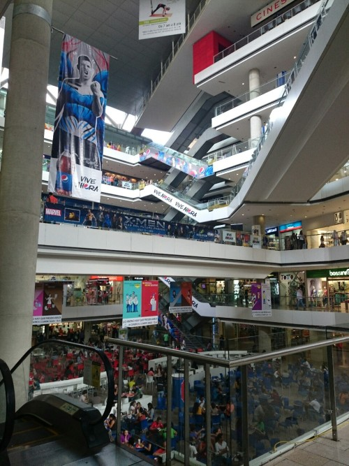 Inside Millenium Mall in Venezuela. This was when the world cup was on.