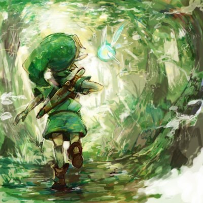 I am a sucker for Legend of Zelda art…