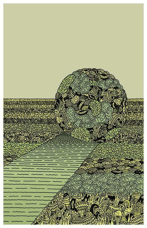 "lukeramsey:  ""Katamari"" Luke Ramsey, 2010- from Floating World Comic's group show based on Keita Takahashi's video game."