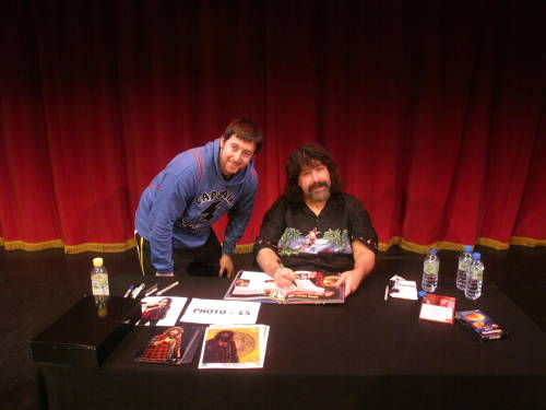 Meeting WWE Hadcore legend Mick Foley!