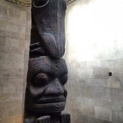 The #ROM in #Toronto features this #totem pole - four stories high.