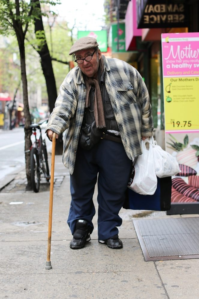 "humansofnewyork:  ""If you could give one pice of advice to a large group of people, what would it be?"" ""Disperse. If you're in a group, you're a target."""