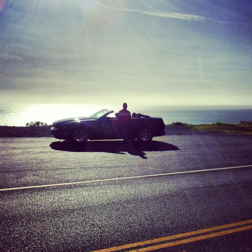 Joy of driving down california coast with top down
