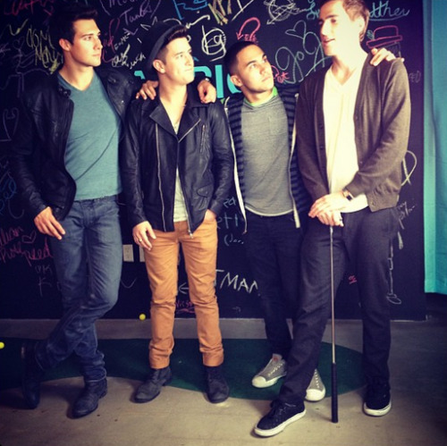 Just shot something fun with the boys! Stay tuned! #btroncambio #bigtimerush