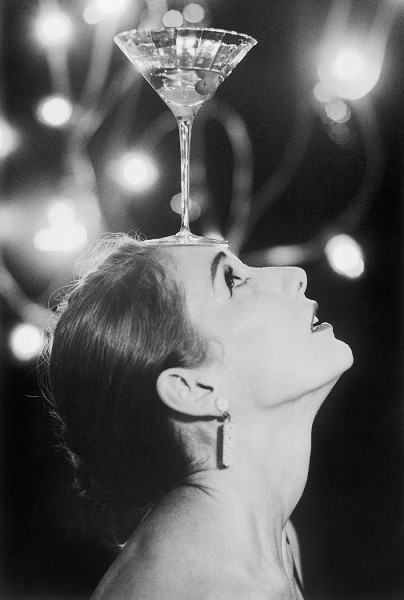 hoodoothatvoodoo:  Anthea with her martini, Vancouver 1997