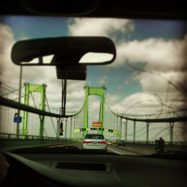 Delaware Memorial Bridge….on our way to Maryland…. #bridge #car #Delaware #Maryland #road