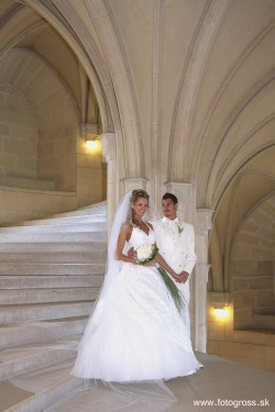 "Wedding at Bojnice Castle, Slovakia - rated as one of the 25 most beautiful castles in Europe It is one of the most visited medieval Romantic castles in Slovakia with original Gothic and Renaissance elements built in the 12 th century and also being a popular filming stage for fantasy and fairy-tale movies. Location on MAP : GPS: N48°46'48.15""   E18°34'40.31"" Architecture : Gothic, Renaissance Bojnice Castle was first mentioned in written records in 1113, in a document held at the Zobor Abbey, Nitra, Slovakia. Originally built as a wooden fort, gradually rebuilt by Poznan family to stone. Its next owners included Matúš Čák of Trenčín ""Lord of the river Váh and the Tatra Mountains"", who received it in 1302 from the King Ladislaus V;  15th century - owned by King Matthias Corvinus, who gave it to his illegitimate son John Corvinus in 1489. Later owned by famous noble families (Zapolya, Thurzos). From 1646 on, the castle's owners were the Palffys, who created today's beautiful imitation of the French castles of the Loire valley. Today there is a museum (part of Slovak National Museum) and the castle is surrounded by the castle park, which contains the Bojnice Zoo (the oldest and one of the most visited zoos). The castle park continues in the form of a forest park in the Strážov Mountains. The castle is renowned for its attractions, including the popular Castle Fairytale, the International Festival of Ghosts and Spirits, Summer Music Festival, Day and Night Tours and Special Christmas, Easter and Valentine`s Programmes. The romantic castle is also a popular location for filming fairy tale movies, such as Fantaghirò. It hosts the single most popular museum in Slovakia. via"