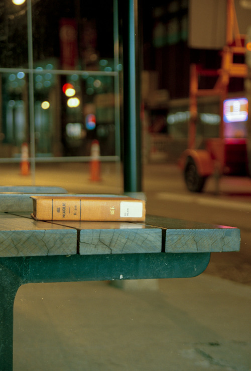Forgotten library book - Bust stop, Chicago