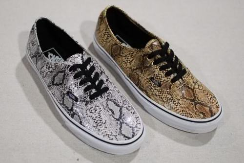 quelovesfashion:  Vans-Authentic-Snakeskin-Fall-2013
