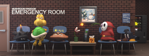 dotcore:  Mushroom Kingdom Emergency Room.by Josh Maule.