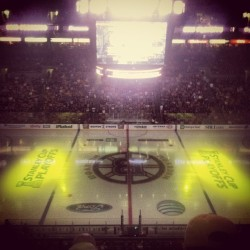 Upper deck redline: Home since '94 #OG #bleedblackandgold (at The Garden )
