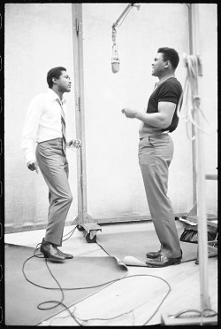 voxsart:  Sam Cooke and Muhammad Ali. Two of the greatest.