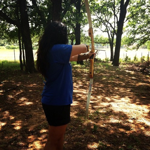 Got to practice #archery today! #nature