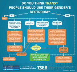transstudent:  Bathroom access flowchart for trans* people!Learn more. Share on Facebook. Retweet.