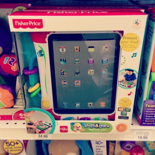 "jffcrmr:  Finally found the perfect iPad case.  (at Toys""R""Us / Babies""R""Us)  Want one for the iPhone too."