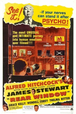 theniftyfifties:  Alfred Hitchcock's 'Rear Window' - 1965 film poster