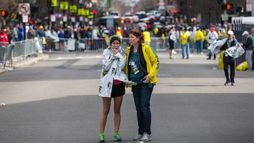 The Marathon was the old, drunk uncle of Boston sports, the last of the true festival events. Every other one of our major sporting rodeos is locked down, and tightened up, and Fail-Safed until the Super Bowl now is little more than NORAD with bad rock music and offensive tackles. You can't do that to the Marathon. There was no way to do it. There was no way to lock down, or tighten up, or Fail-Safe into Security Theater a race that covers 26.2 miles, a race that travels from town to town, a race that travels past people's houses. There was no way to garrison the Boston Marathon. Now there will be. Someone will find a way to do it. And I do not know what the race will be now. I literally haven't the vaguest clue.  Boston Marathon explosion  - GrantlandStory by Charles P. PiercePhoto by Aram Boghosian/Boston Globe/Getty Images