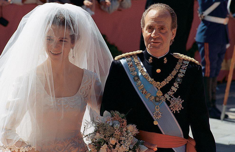 Juan Carlos I of Spain-75 Years, 75 Photos. 48- Wedding of Doña Elena, March 1995 in Seville.