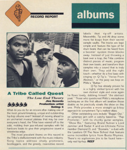 bernie1904:  A Tribe Called Quest - The Low End Theory, review in The Source.