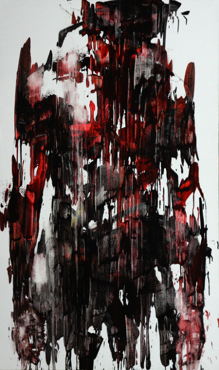 darksilenceinsuburbia:   KwangHo Shin. [44] Untitled, 2013. Oil on canvas, 162 x 92.5 cm.