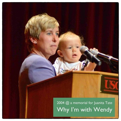 Why I'm On Team Wendy - I'll never forget this day in 2004. It was a memorial service for Juanita Tate, a South LA community activist. Wendy was no stranger to the issues of South LA then. And she is no stranger now. I've already voted. I truly hope that others join me in electing Wendy Greuel Mayor of LA. @wendy_greuel #teamwendy